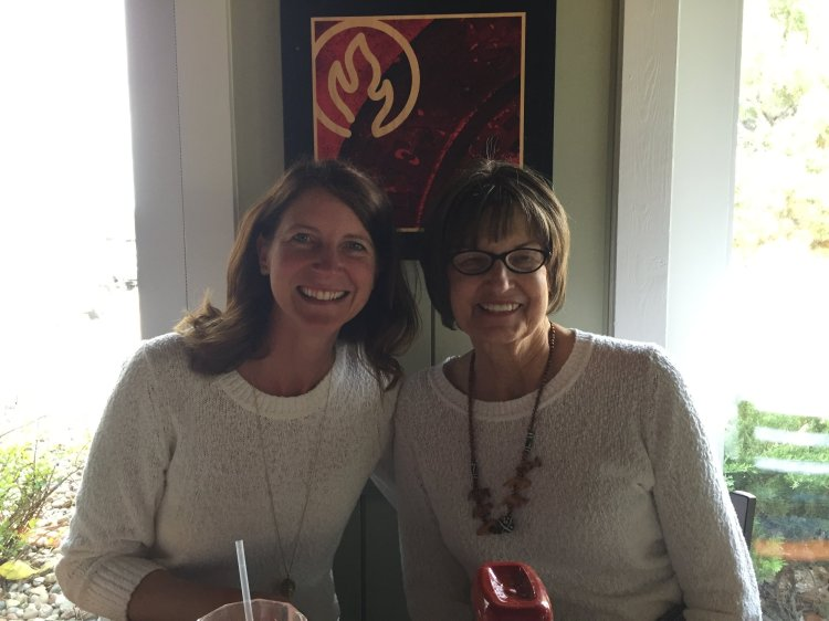 This was taken on Mother's Day of this year. Somehow we wore the exact same sweater???