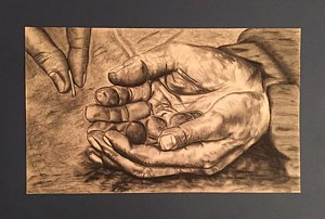 Hands Of Poverty  is a drawing by Morgan Moran